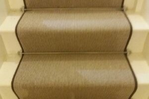 Pinstripe Wool with Stair Rods 2