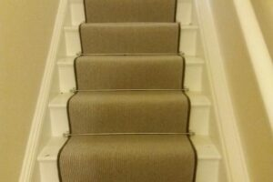 Pinstripe Wool with Stair Rods